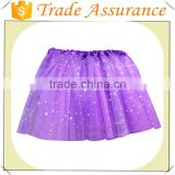 Wholesale fashion girl purple mini skirt summer style kids tutu skrit for dance casual skirt