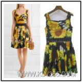 China Wholeslale Designer Women Fashion Flower Summer Dress