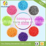 Hot selling non-toxic Eco-friendly plastic 2.6mm mini beads soft hama perler beads toys