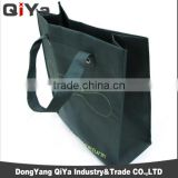China Suppliers Wholesale Cheap Reusable Promotional Huge Capacity Black Foldable Non-woven Embroidery Shopping Bags