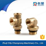 tee plastic brass quick connector pipe fitting 3 way pipe connector
