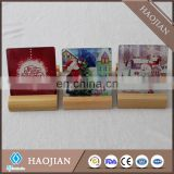 10*10 cm sublimation tempered glass coasters table mats and pads wholesale cork coasters
