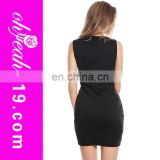 2014New fashion no sleeve in stock wholesale ladies tight sheer mini leopard bodycon fashion dress