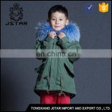 China supplier cheap short faux fur parka jacket top quality boys fur coat