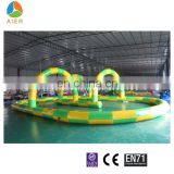 Outdoor race track,inflatable go kart track
