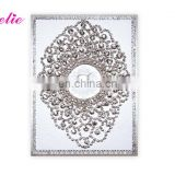 AC057 New Design Customized White Color With Pearl Luxurious Expensive Wedding Card