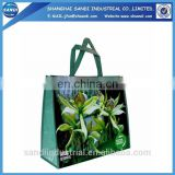 LOGO printed promotional PP woven fabric shopping bag