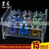 Bar supplies pmma plexiglass cups display stand clear acrylic cups holder