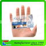 Programmable Clear Transparent Inkjet PVC Card for Business