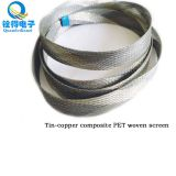 We can supply tinning copper mixed PET braided shielding net for special customizations