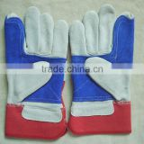 cow spilt leather working gloves/industrial gloves/mechanic gloves/safety and protection gloves for workers