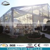 Beautiful white or transparent wedding tent 200 people tent with roof lining and side curtains