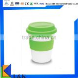 promotional PP coffee mug, plastic cup with lid