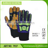 Hot sales high quality Heat Resistant Gloves/Super Oil Repellency/Oil Field Leather Safety /Impact Gloves