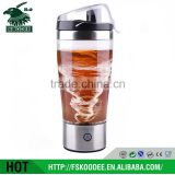 Men's sport water bottle stainless steel electric protein shaker