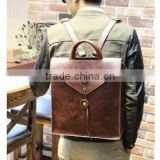 2015 Western Style Wholesale Men's School PU Leather Backpack laptop bag                                                                         Quality Choice