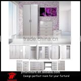High gloss bed room furniture wardrobe cabinet bedroom furniture set                                                                                                         Supplier's Choice