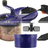 PP+ABS+S/S 23*20*26 Useful food processor/multifunctional food processor/food slicer grater chopper/manual food processor