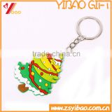 High quality soft pvc christmas trees key chain, custom keychain, soft pvc keyring/pvc key ring