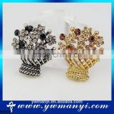Wholesale alibaba austrian crystal jewelry wholesale brooch for wedding bouquet wedding invitation B0028