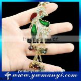 Beauty peacock shaped key chain peacock keychain for wholesale gemstone keychain keyring for men woman gift K0132