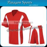 Red Soccer Uniform with white stripe