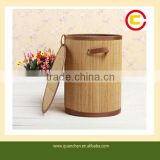 Useful Wholesale Cylindrical Bamboo Basket For Clothes Storage