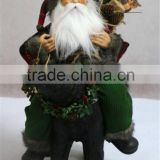 XM-A6049 18 inch santa claus ridding resin black bear for christmas decoration