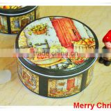 alibaba china supplier cookie metal tin box/food packaging/christmas round tin box