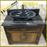 Used bathroom vanity cabinet matching volakas white marble black granite Modern Bathroom Vanity