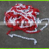 traffic barrier plastic warning chain