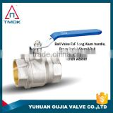 TMOK lead free forged brass heavy duty forged brass ball valve PN25 nickel plated for water and food industry CE certification