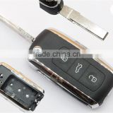 New product vw 3 buttons remote key cover with key chain