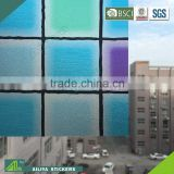 BSCI factory audit non-toxic vinyl new design decorative self adhesive bathroom window film privacy