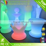 PE LED giant outdoor plastic chess sets