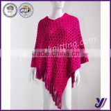 factory free sample wholesale 2016 fashion knitted Pashmina Scarf Shawl poncho (accept customized)