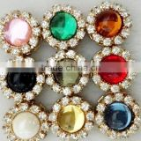 Magnet Style Crystal Flower Fashionable Pins Muslim Hijab Scarf Pins Women Shawls Brooches Pins