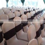 High quality lycra/spandex banquet chair cover with black spandex band for wedding