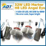 New 32W H8 E92 LED angel eyes, led Marker angel eye for BMW E87 E82 E90 E91 E92 E93 E60 E61 E84 E89 E70 E71