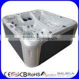 Balboa control system rectangular acrylic whirlpool massage spa outdoor hot tub