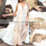 Dresses latest women girl design fashion photos Color Block Spaghetti Strap Criss Cross Backless Maxi Dress