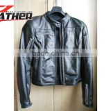 Motorcycle leather jacket made 2015 new fashion winter black slim fit men leather jacket