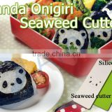 plastic rice ball making machines set silicone sushi seawed kitchen tools lunch bento box gift Panda Onigiri Seaweed Cutter