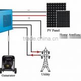 6000W 48v to 220v dc ac export electricity to grid tied hybrid inverter toroidal transformer sine wave