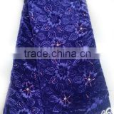 CL13-2 Multicolor elegant African Velvet embroidery lace with stones for dress lace fabric