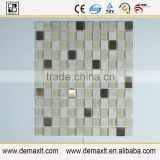 High Quality Glass Mosaic Wall Art Crystal Glass and marble Mosaic tile