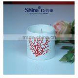White Ceramic candle jars with lid ceramic mugs with lid wedding gift centerpiece                                                                                                         Supplier's Choice