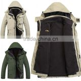 New authentic outdoor clothing men's two sets of tooling liner thickening warm three in one jacket wholesale