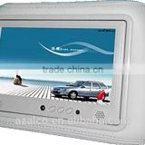 7 inch headrest mini lcd taxi/car advertising screen with low price