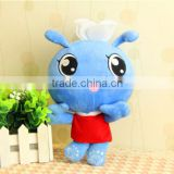 "China factory custom made 6"" cute blue plush bee doll lovely baby doll with EN71 ASTM"